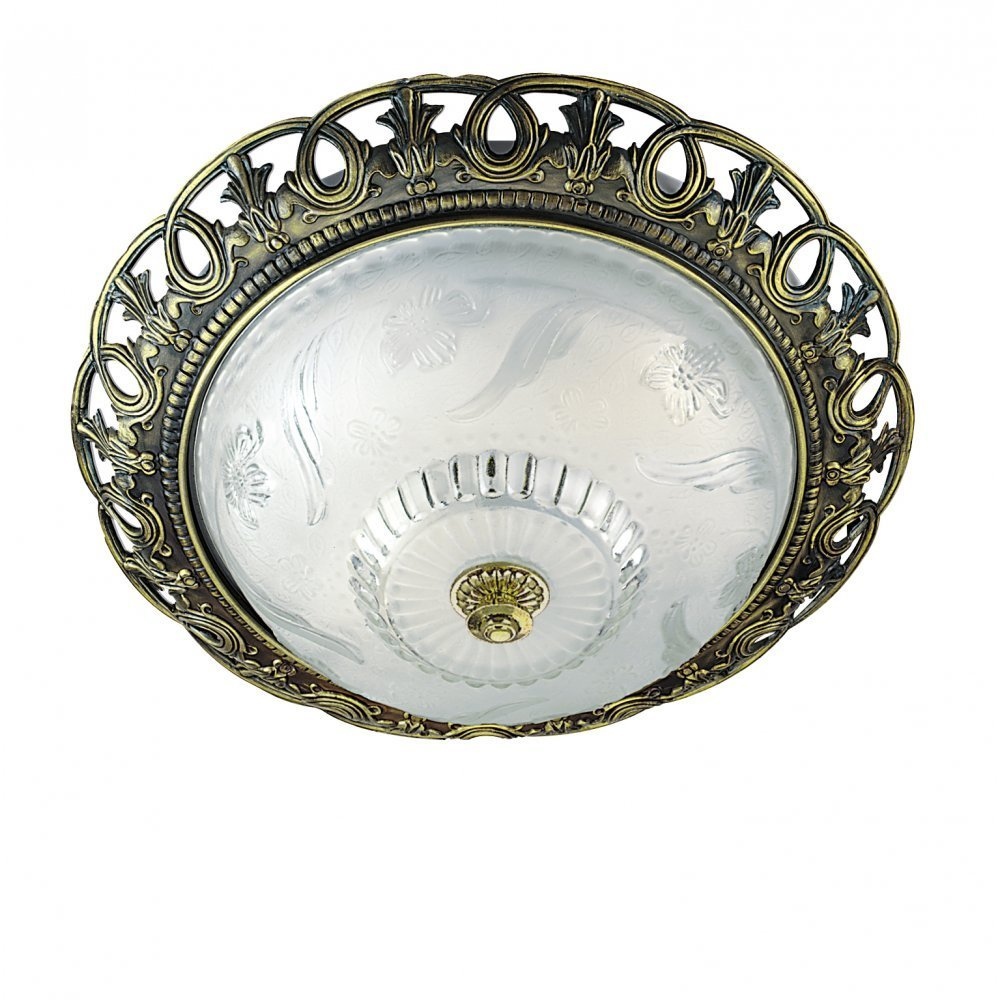 Searchlight electric 7045 13 ceiling light buy online at lightplan searchlight electric flush 7045 13 antique brass flush ceiling light mozeypictures Images