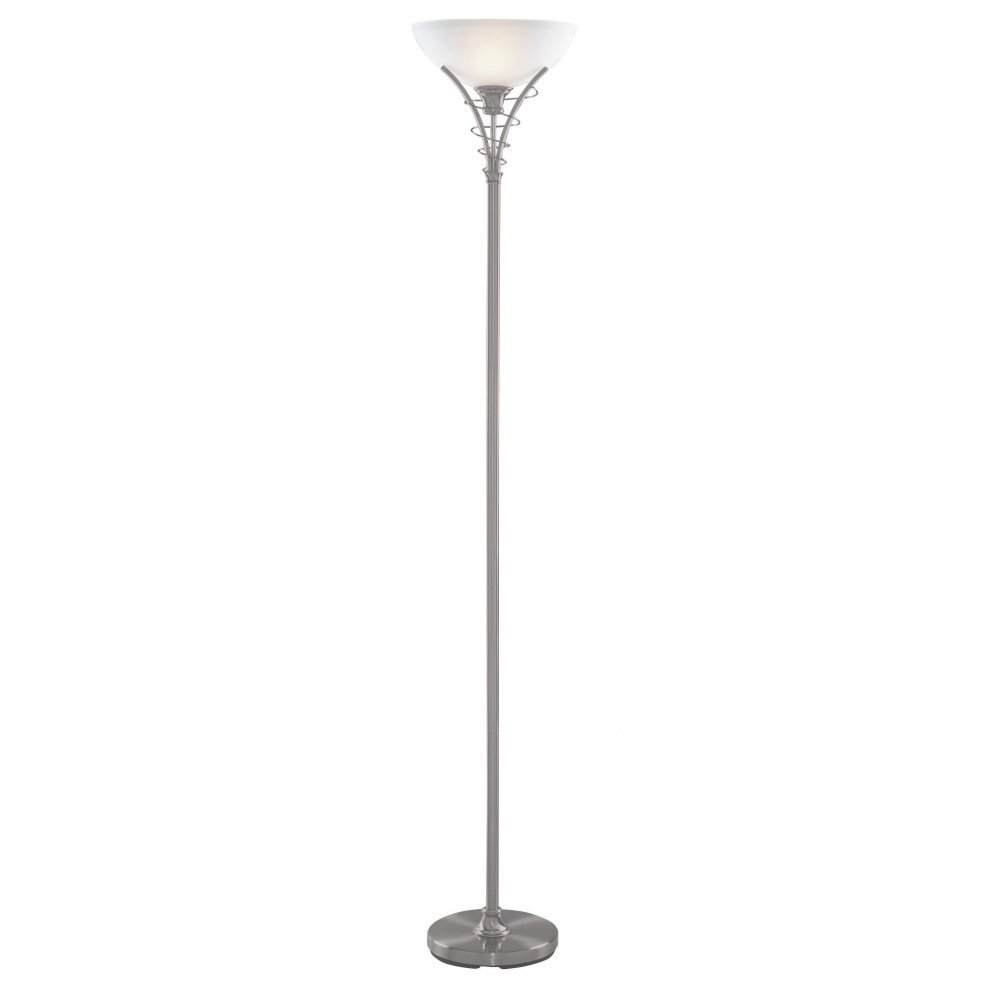 Searchlight electric 5222ss linea floor lamp buy online for Mainstays silver floor lamp