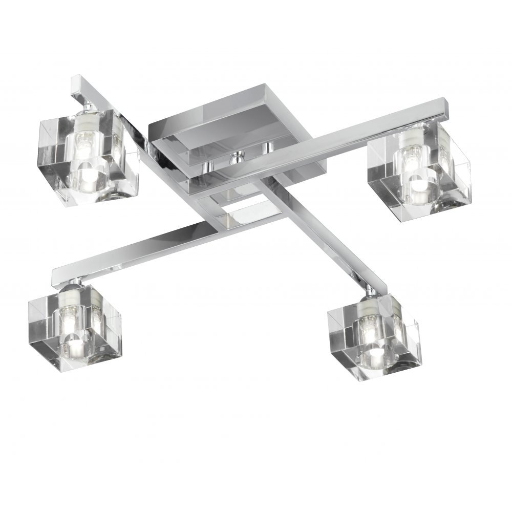 Searchlight electric sculptured ice 1014 4cc ceiling light from searchlight electric sculptured ice 1014 4cc chrome with k9 glass 4 light bar ceiling spot mozeypictures Image collections