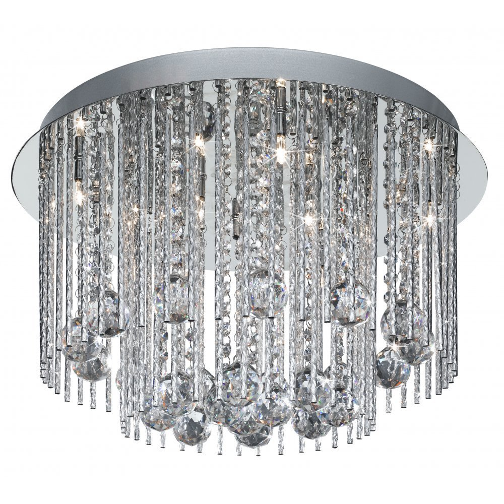 Searchlight electric beatrix 8088 8cc ceiling light from lightplan searchlight electric beatrix 8088 8cc chrome with crystal detail semi flush ceiling light aloadofball Images
