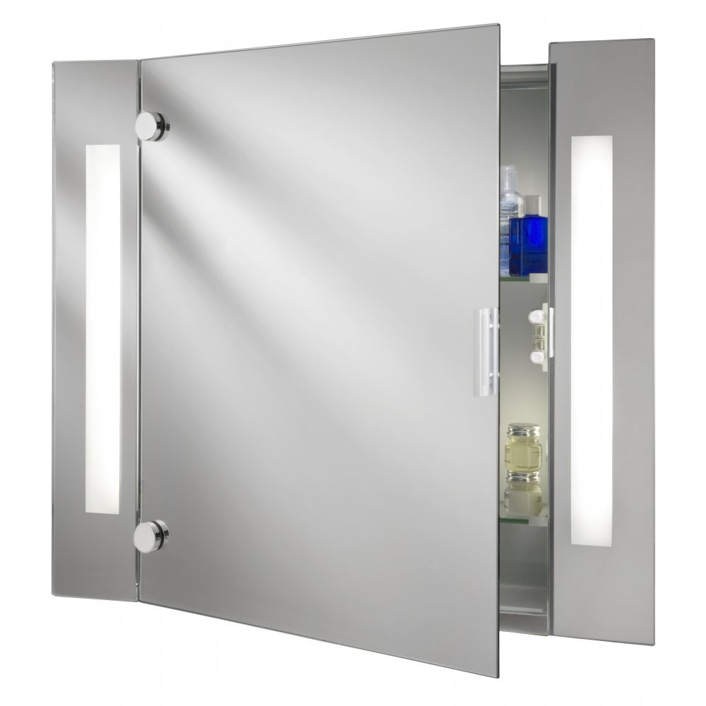 Searchlight Electric 6560 Glass Illuminated Bathroom Cabinet Mirror Wall Mounted