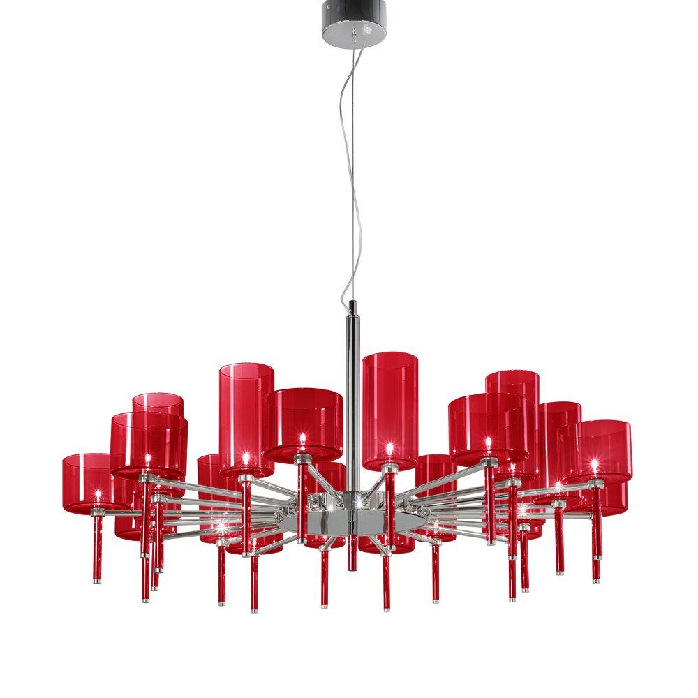 axo light spillray spspil20rscr12v red pendant ceiling light axo light from lightplan uk. Black Bedroom Furniture Sets. Home Design Ideas