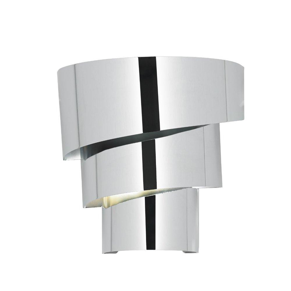 Brushed Chrome Indoor Wall Lights : Endon Lighting Everett EVERETT-1WBCH Polished Chrome Wall Light
