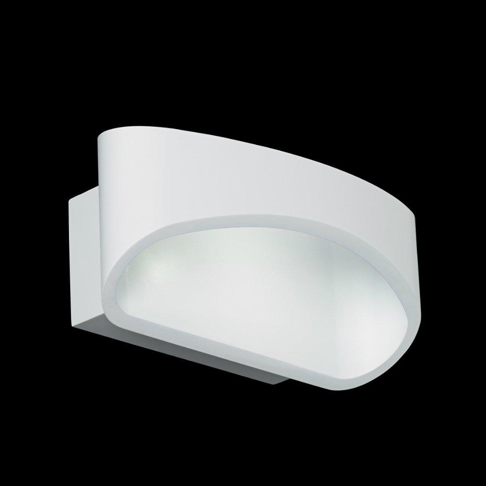 Johnson Led Wall Light: Endon Lighting Johnson JOHNSON-WH White Wall Light