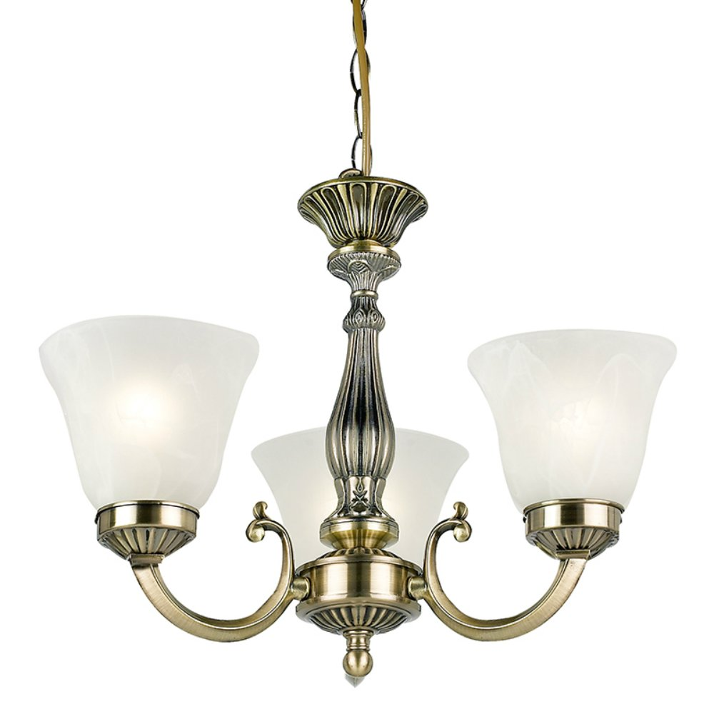 Endon Lighting Carmen 96833 Ab Antique Brass Amp Glass