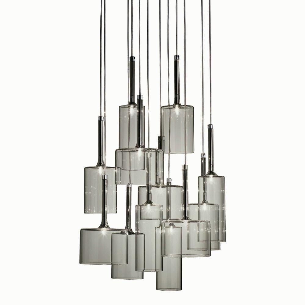 axo light spillray spspil12grcr12v grey pendant ceiling light axo light from lightplan uk. Black Bedroom Furniture Sets. Home Design Ideas