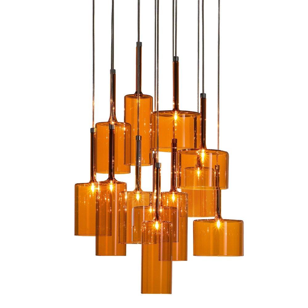 axo light spillray spspil12arcr12v orange pendant ceiling light