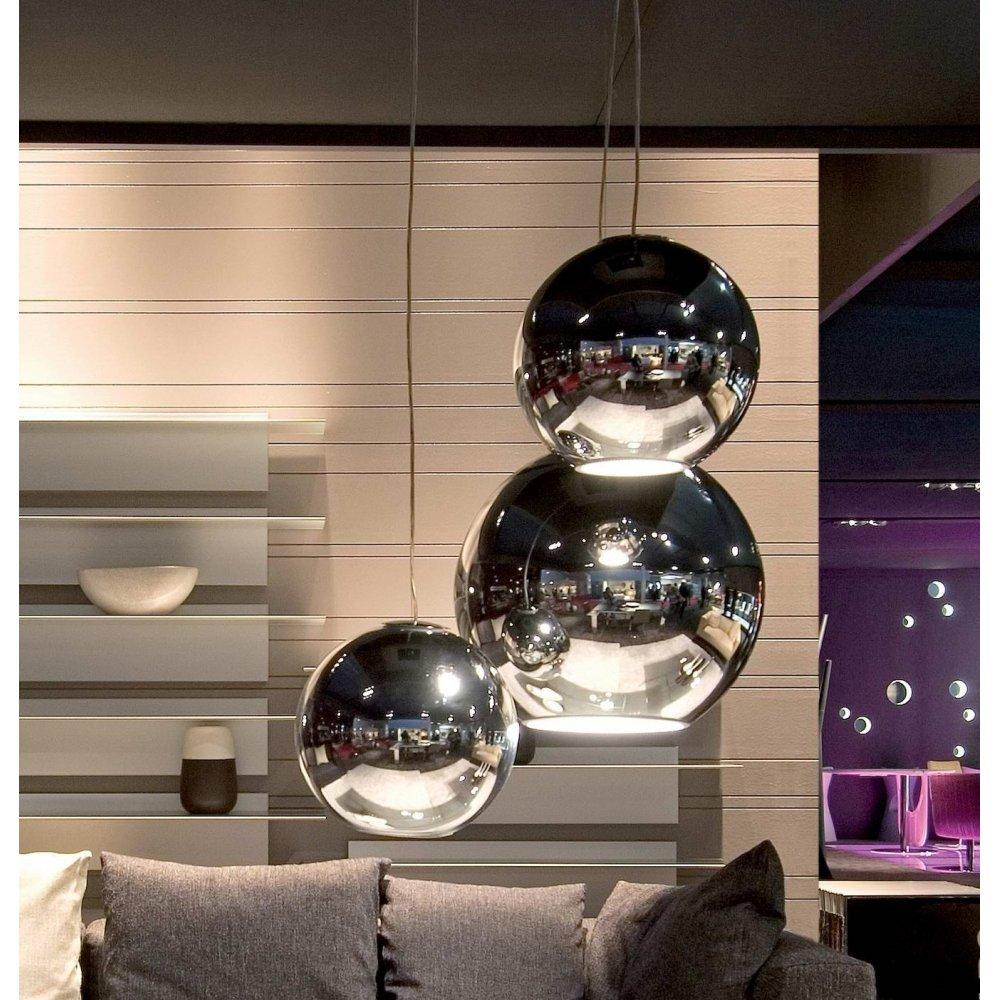 fontana arte globo di luce chrome interior pendant ceiling light 3644 0cr small fontana arte. Black Bedroom Furniture Sets. Home Design Ideas