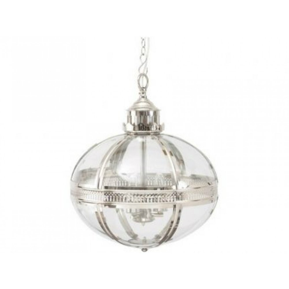 Libra Company Whitehouse 036215 Glass  U0026 Nickel Pendant