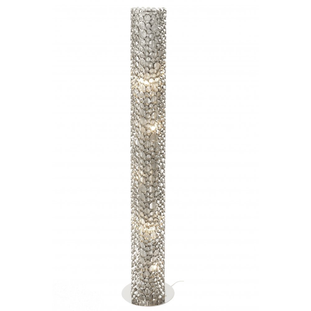The libra nickel tube floor lamp buy now from lightplan libra company venus nickel tube 136979 floor standing lamp aloadofball Gallery