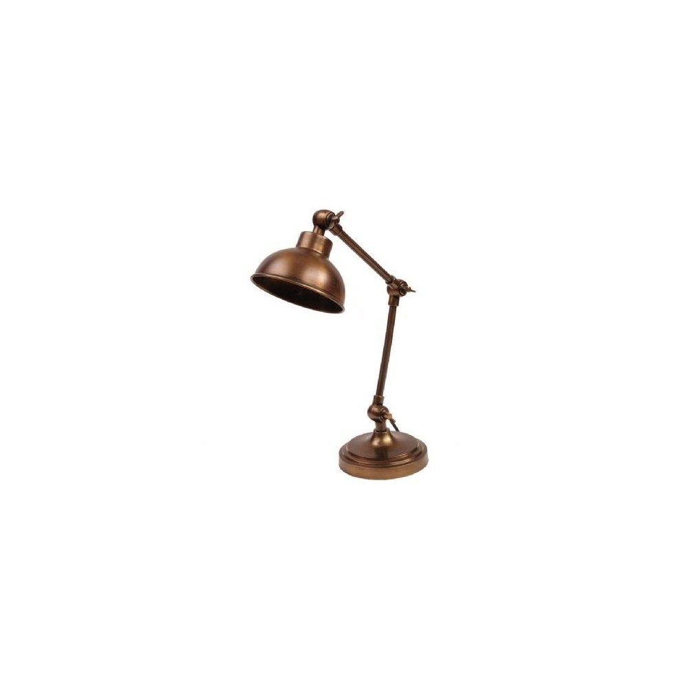 Antique Lamp Vintage Table Co : Libra company vintage hinged lamp antique bronze