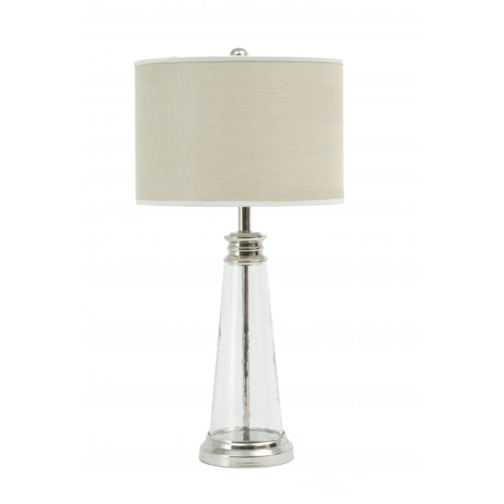 Table lamp the libra regal glass on sale libra company regal glass 067010 table lamp small with bleach linen lamp shade aloadofball Choice Image