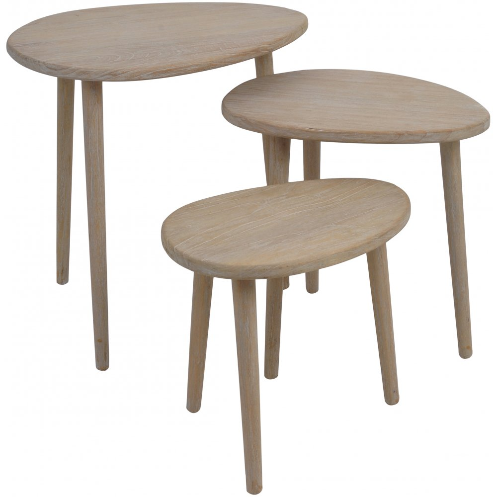 Ergo nesting set of tables designed by libra on sale at lightplan libra company ergo oval wooden set of three nesting tables 211422 limited stock watchthetrailerfo