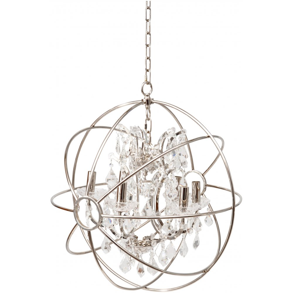 The chesterford chandelier pendant by libra on sale at lightplan libra company chesterford 036224 small nickel globe chandelier ceiling light mozeypictures Gallery