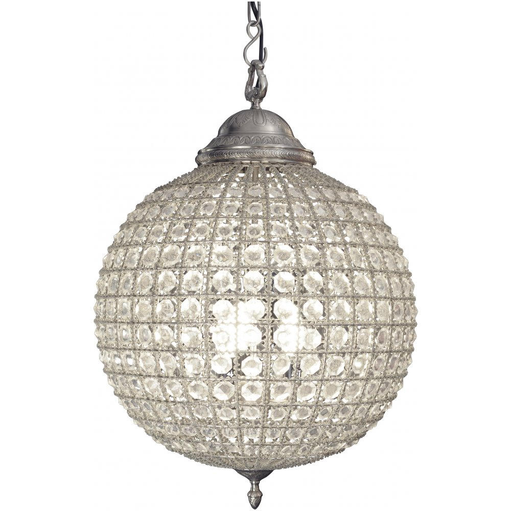 with shades and chandelier light crystal pendant products glass globe sphere crystals of clear