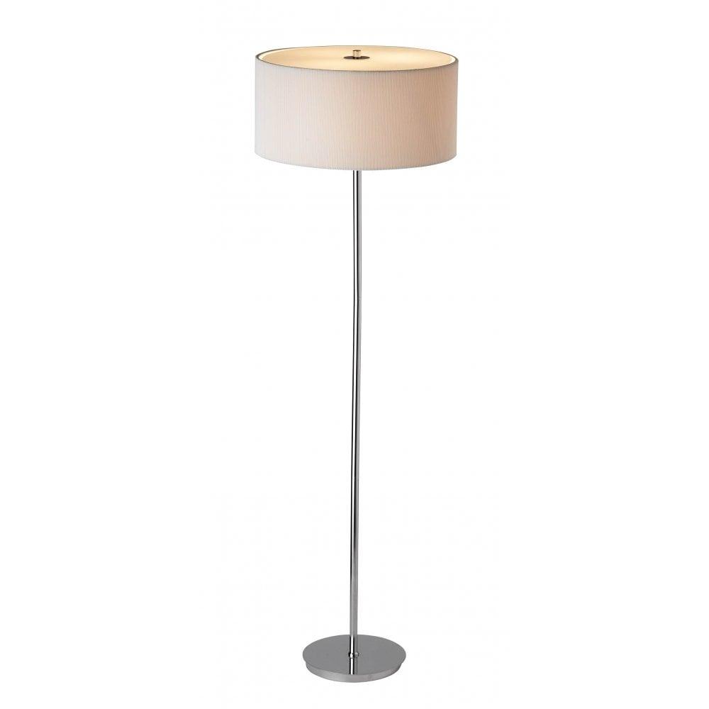 light floor lamp cream fabric shade dar lighting from lightplan uk. Black Bedroom Furniture Sets. Home Design Ideas