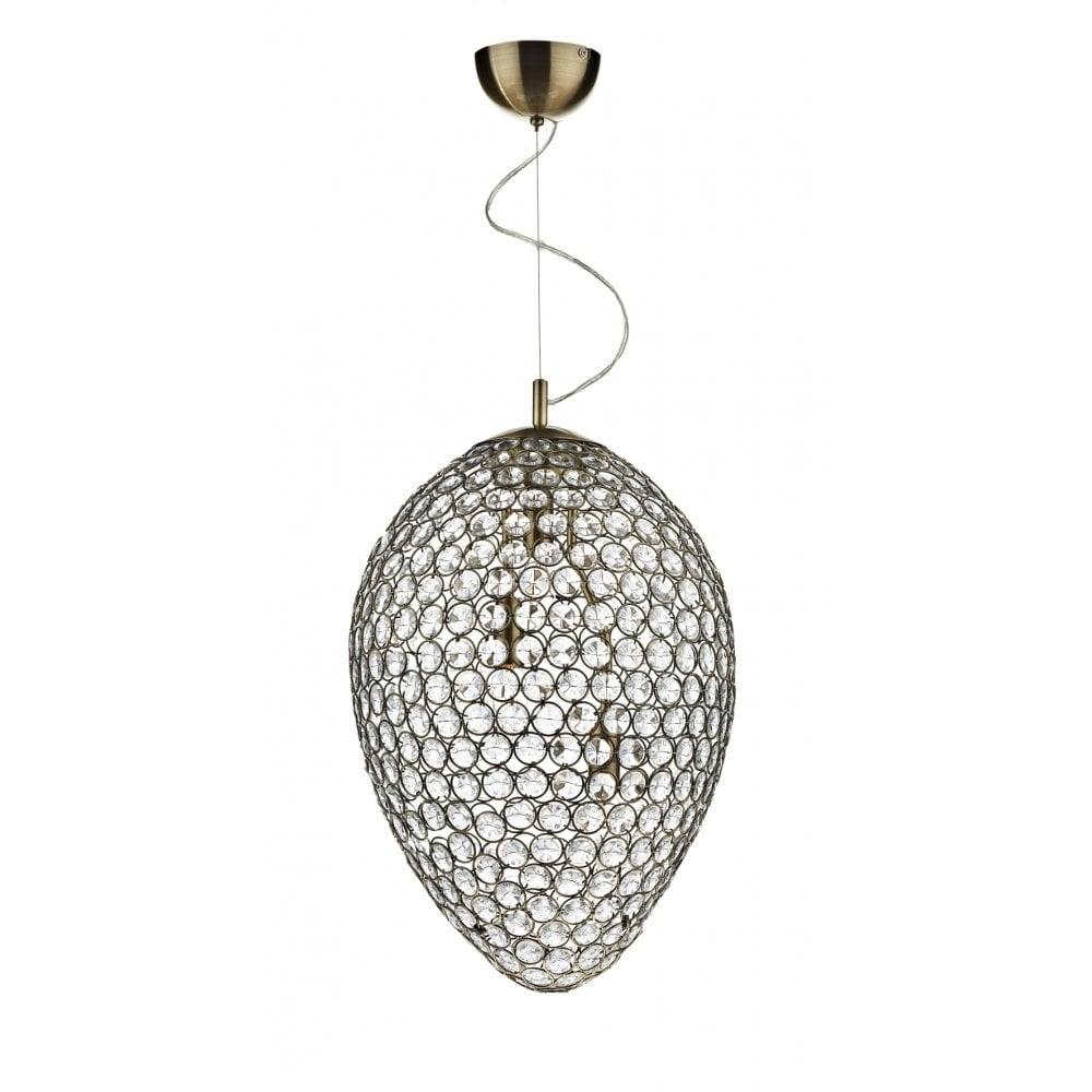 dar lighting frost fro0375 antique brass 3 light pendant