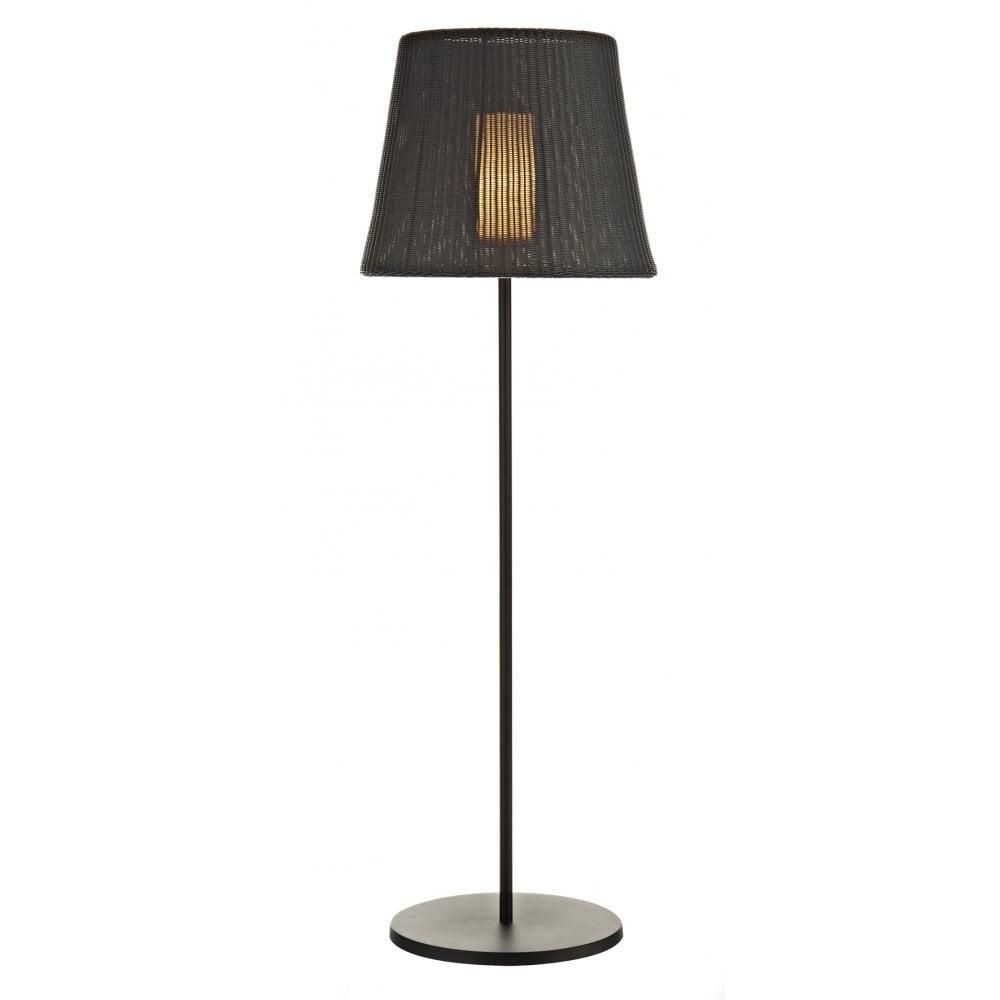 Dar lighting ibiza ibi4922 black round outdoor floor lamp for 12 volt floor lamps