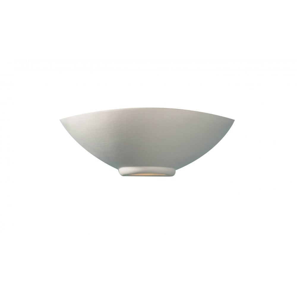 Unglazed Ceramic Wall Lights : Dar Lighting Otis OTI0748 Unglazed Ceramic Glass Wall Washer