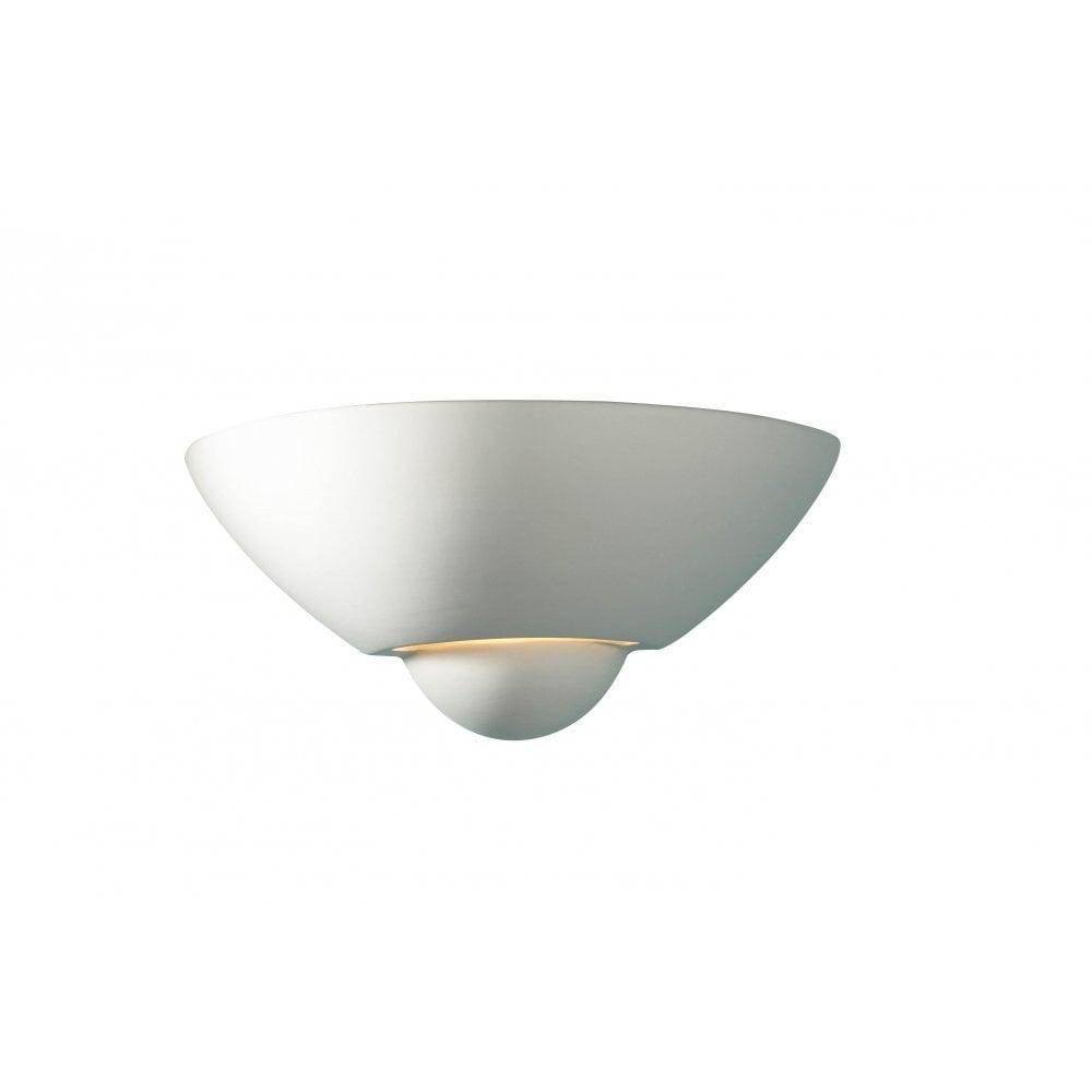 Dar Lighting Vector VEC0748 Unglazed Ceramic Wall Washer