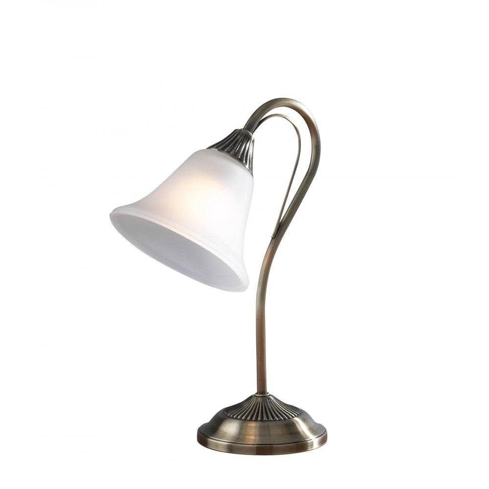 Dar lighting boston bos40 antique brass table lamp dar for 6 volt table lamp