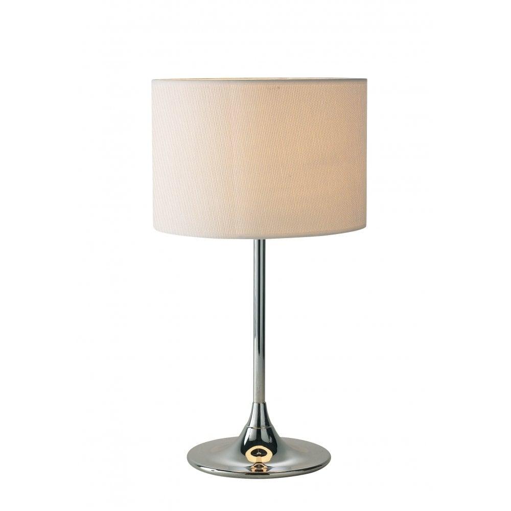 Ulysses Chrome Table Lamp: Dar Lighting Delta DEL4250 Polished Chrome Table Lamp