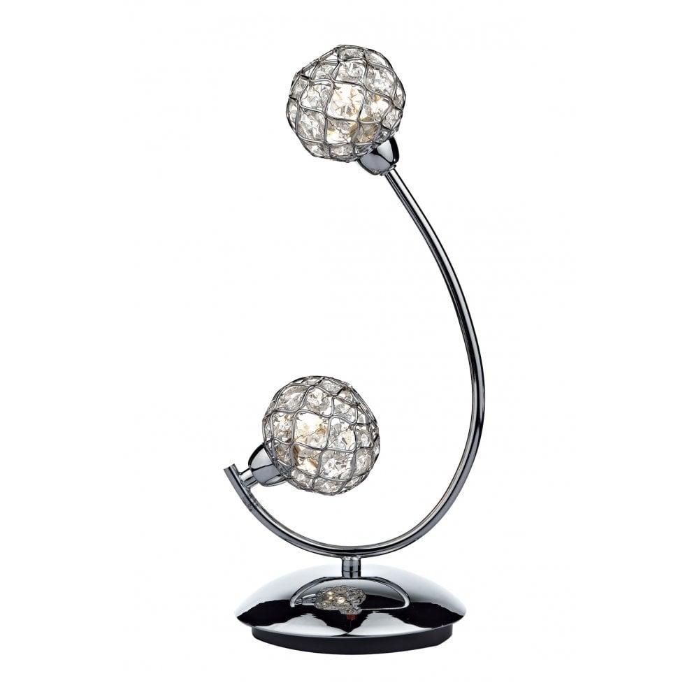 dar lighting circa cir4250 polished chrome 2 light table