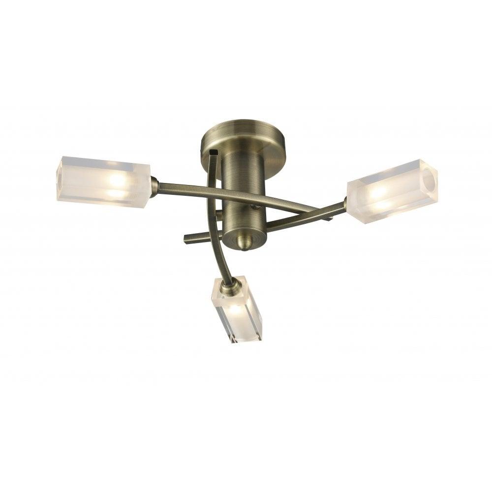 Dar lighting morgan mor0375 antique brass semi flush 3 light ceiling dar lighting morgan mor0375 antique brass semi flush 3 light ceiling fitting mozeypictures Gallery