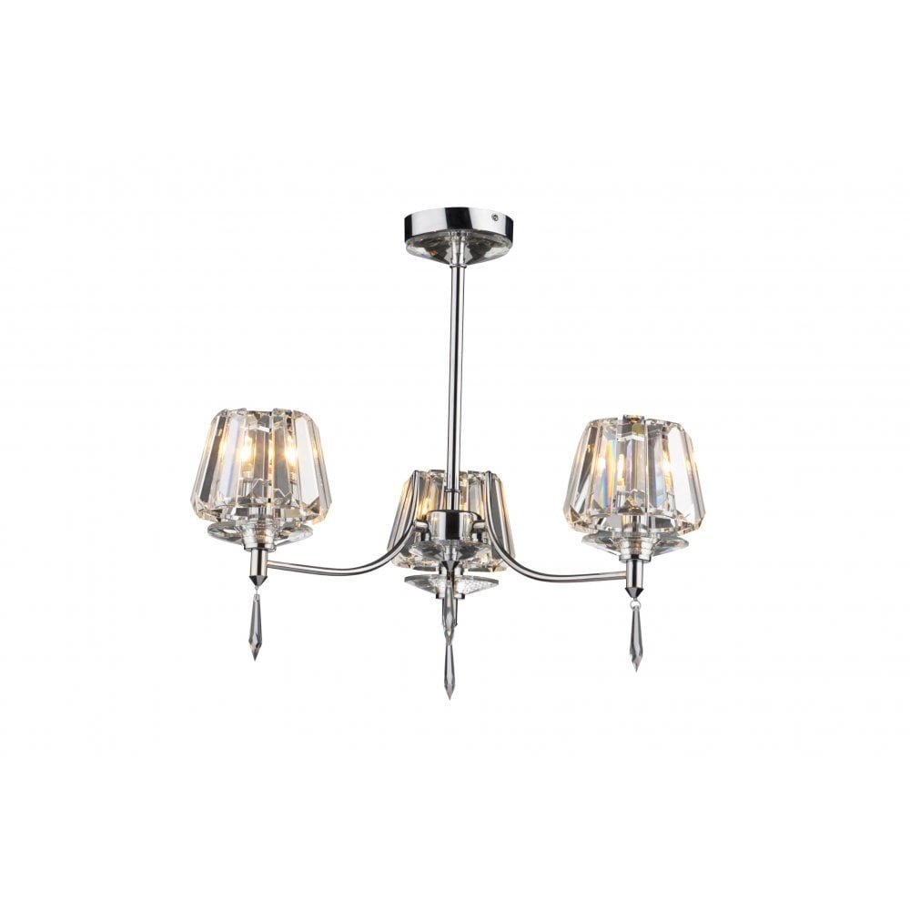 dar lighting selina sel0350 polished chrome 3 light semi