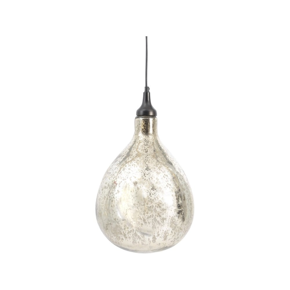 Silver Blown Glass Bubble Ceiling Light On Sale At