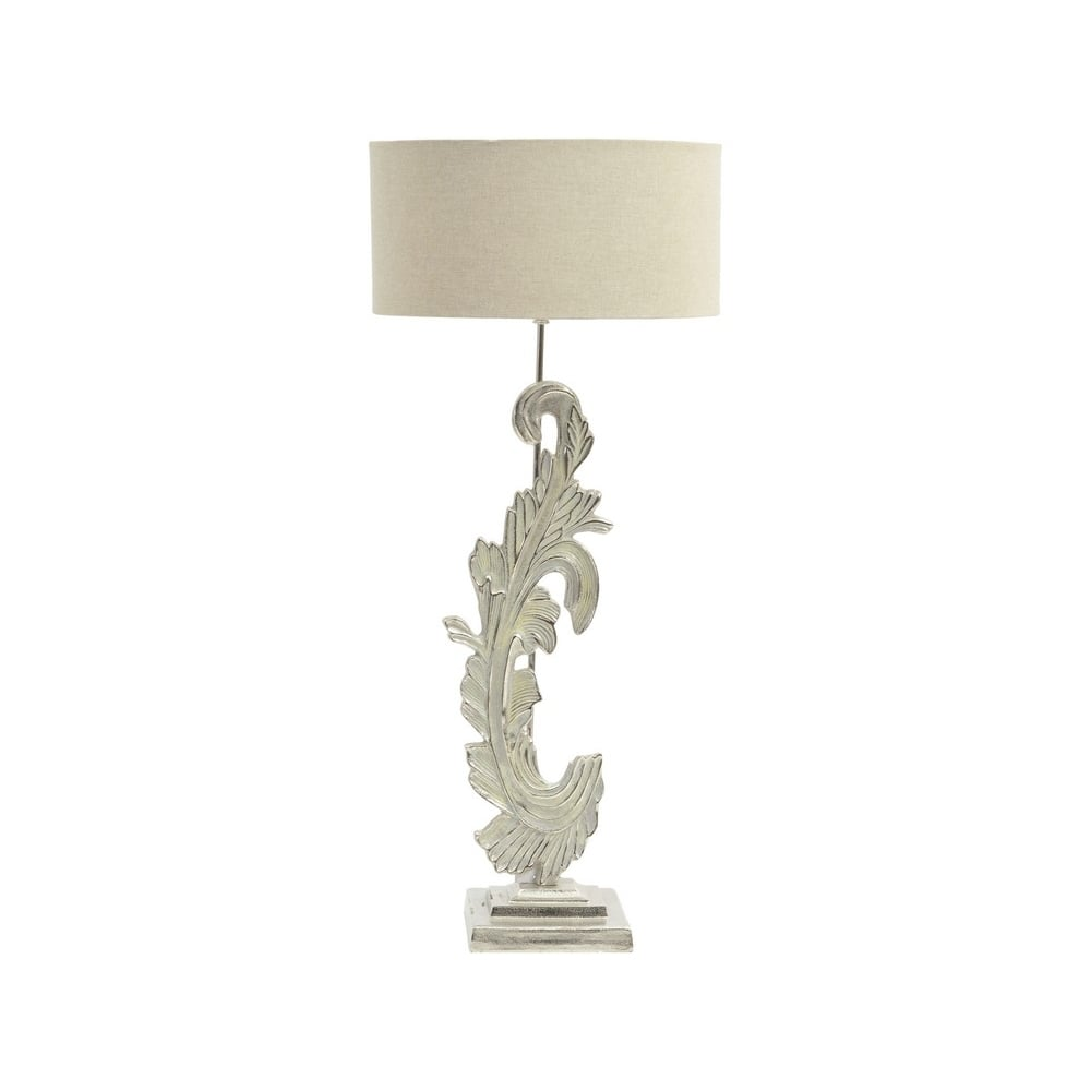 Damask by libra large table lamp online with lightplan libra company damask 337768 large washed nickel table lamp with beige fabric lamp shade aloadofball Image collections