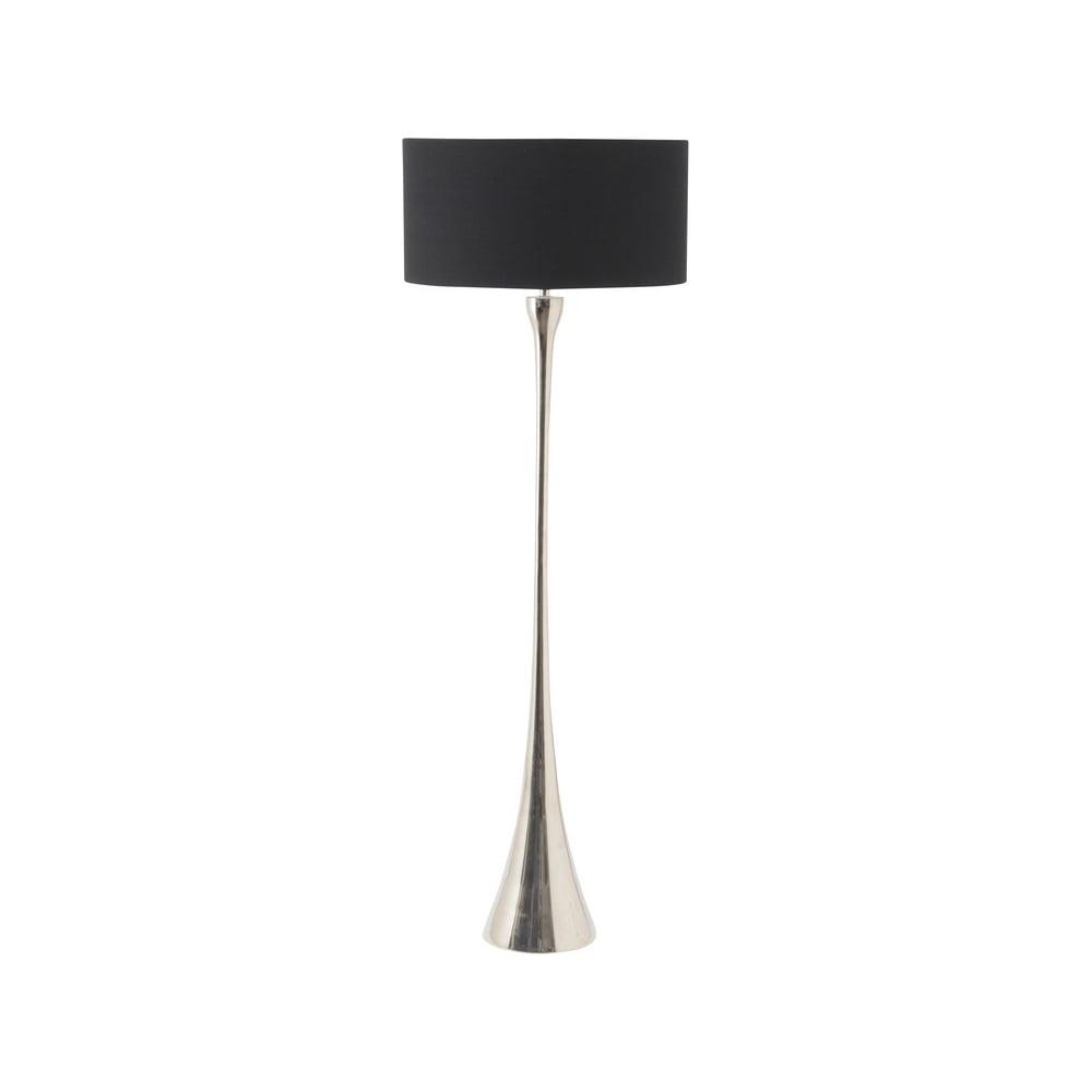 Polished nickel lyra floor lamp by libra online with lightplan libra company lyra nickel 307001 floor lamp with black drum lamp shade aloadofball Gallery