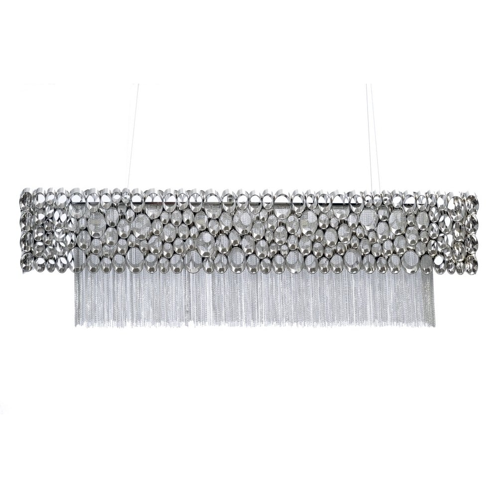 Rectangular chandelier venus nickel ceiling lights by lightplan libra company venus nickel rectangular 337736 chandelier ceiling light arubaitofo Choice Image
