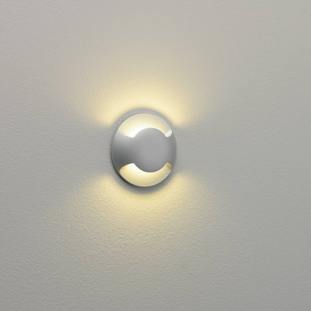 Beam 0938 Twin Light Painted Silver LED Ground Or Wall