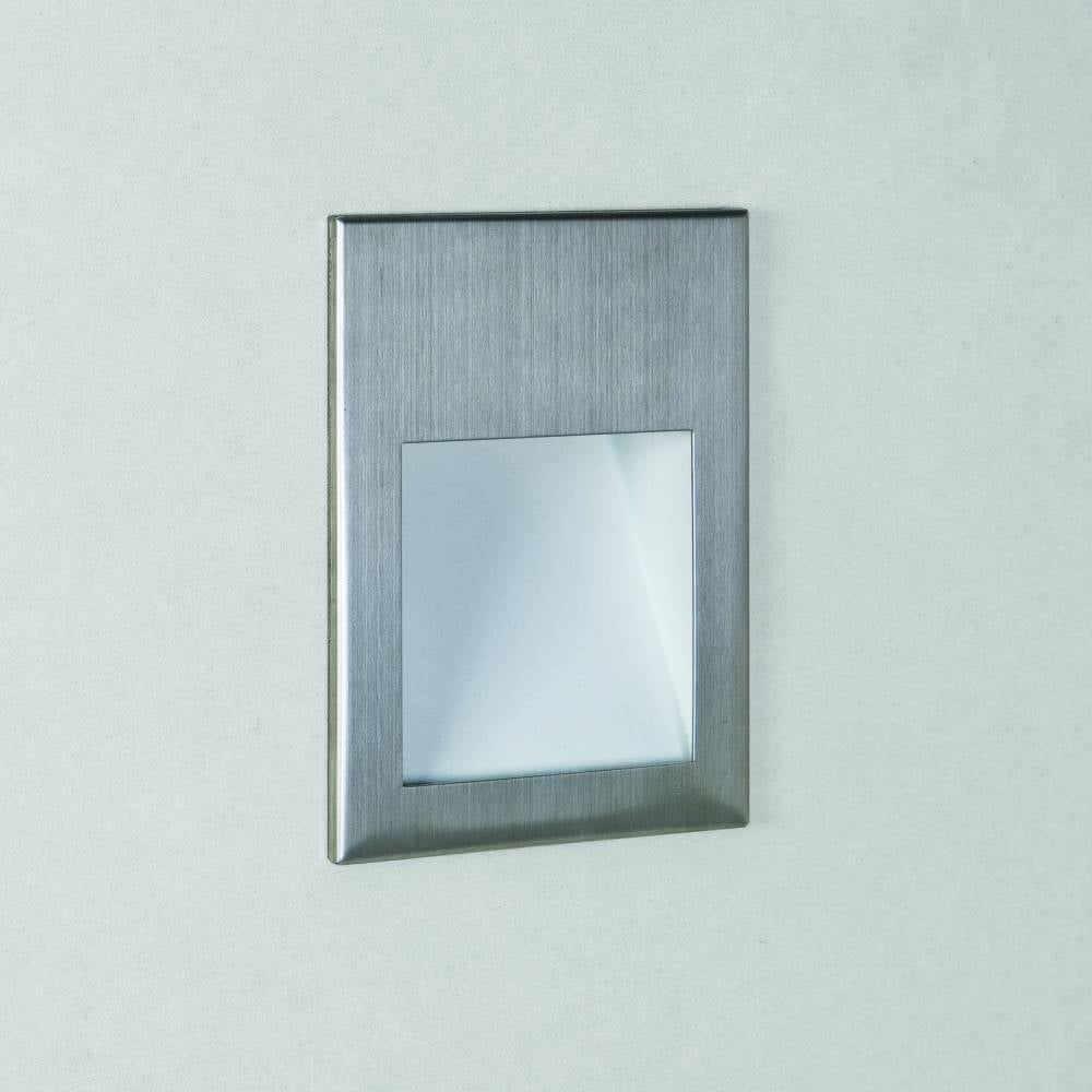 Astro 54 7544 borgo led bathroom wall light online at lightplan for Stainless steel bathroom lights
