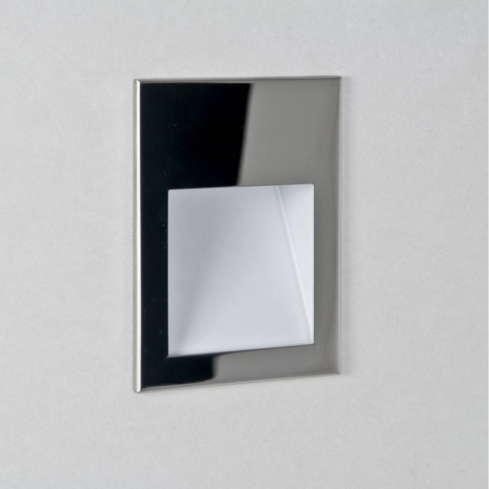 Conservatory lighting borgo 90 0974 square polished chrome led wall light ip20 aloadofball Image collections