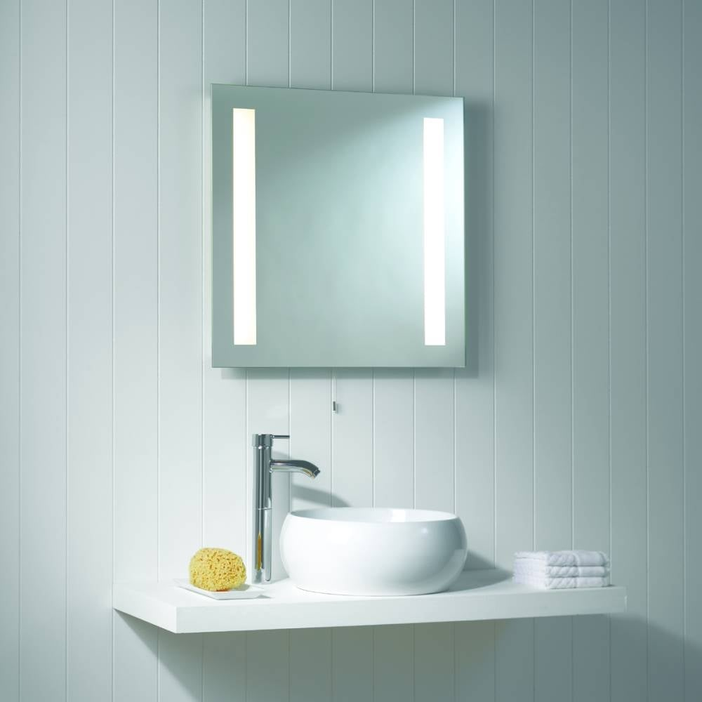 Merveilleux Astro Lighting Galaxy 0440 Mirror Finish Square Bathroom Illuminated Mirror  Light