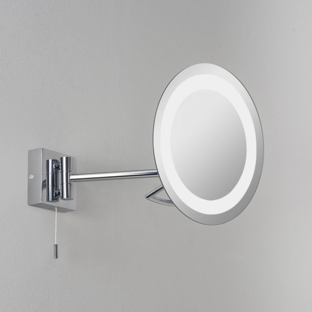 Gena 0488 illuminated magnifying bathroom mirror buy at lightplan Polished chrome bathroom mirrors