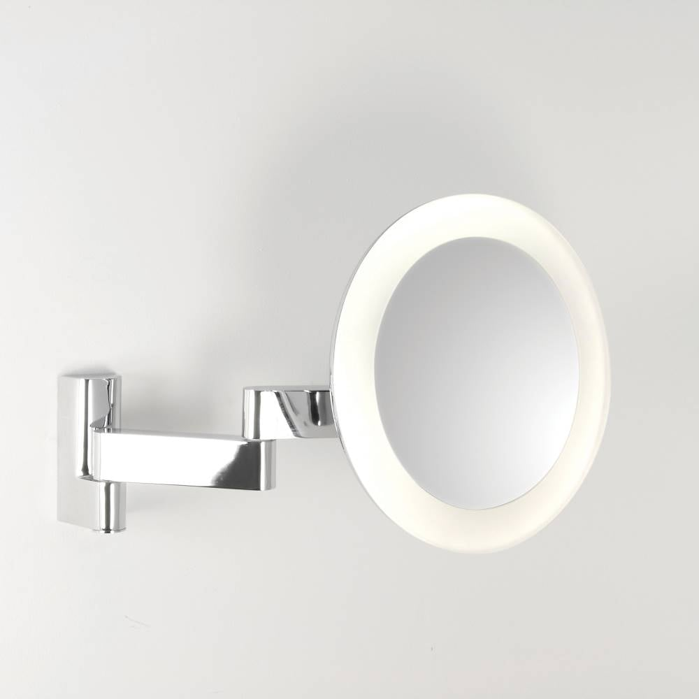 Astro niimi 0760 illuminated bathroom mirror buy online at lightplan Polished chrome bathroom mirrors