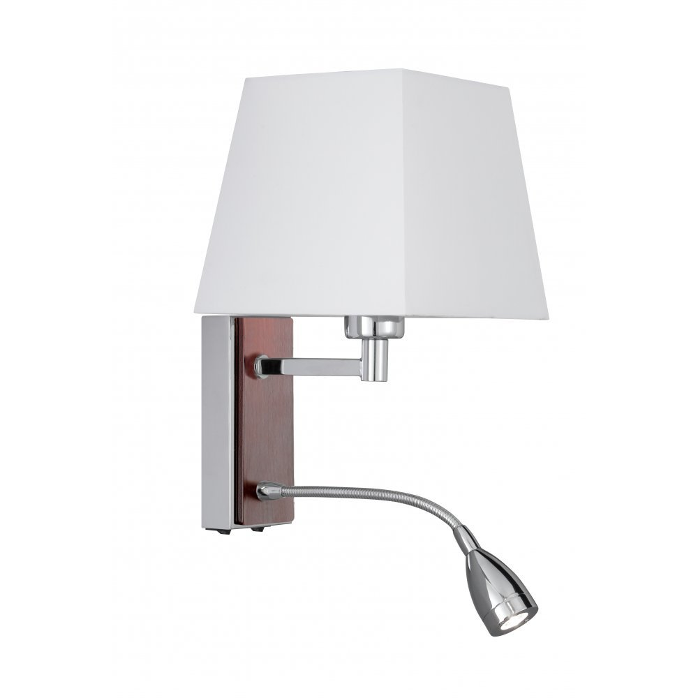 Searchlight Electric 8719CC Chrome With Fabric Shade Wall