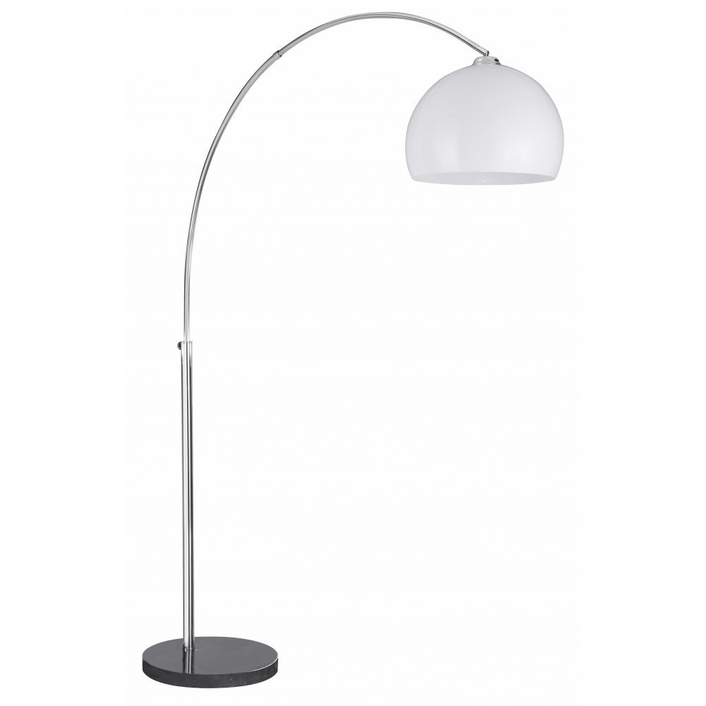 electric arcs 1037cc chrome with thermoplastic white shade floor lamp. Black Bedroom Furniture Sets. Home Design Ideas