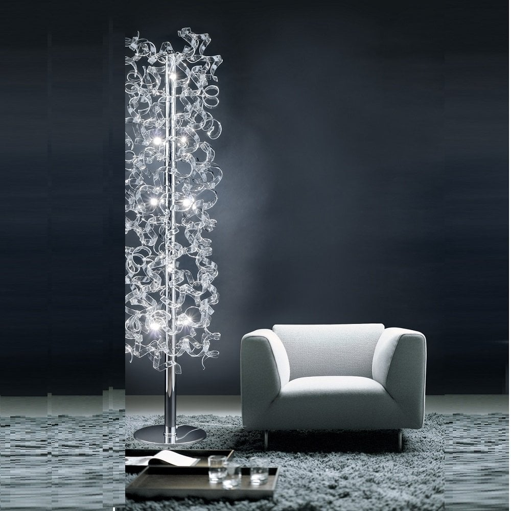 a1390p crystal floor lamp metal lux astro from lightplan uk. Black Bedroom Furniture Sets. Home Design Ideas