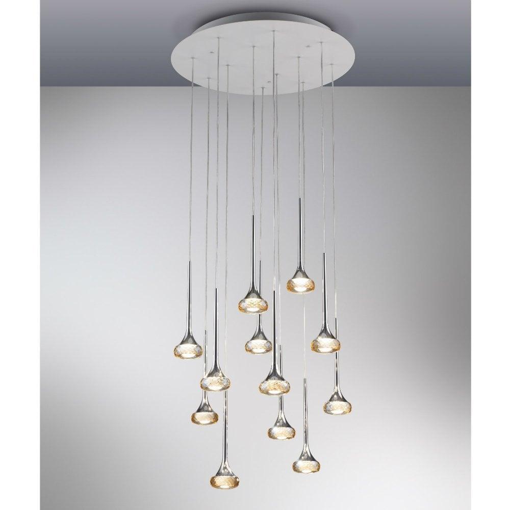 Axo Light Fairy SPFAIR12AMCRLED Amber Pendant Ceiling ...