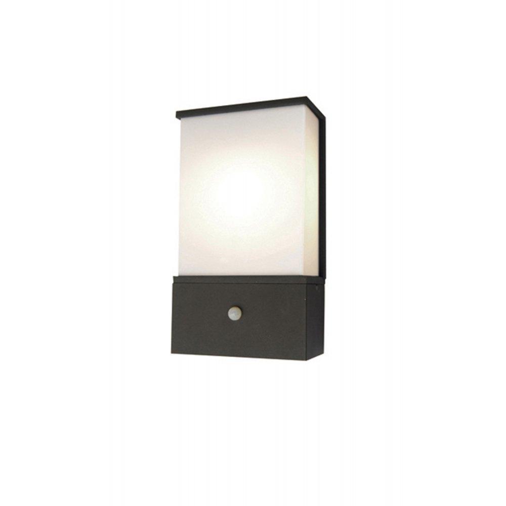Outside Wall Lights Pir : Elstead Lighting Azure Low Energy 6 Dark Grey Outdoor Wall Light PIR - Elstead Lighting from ...