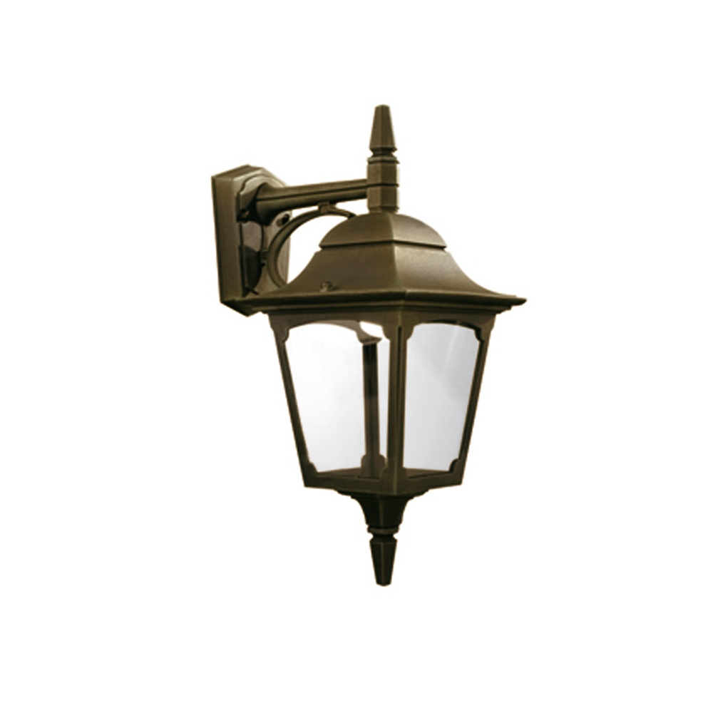 Elstead Lighting Chapel Down Outdoor Black/Gold Wall Lantern - Elstead Lighting from Lightplan UK
