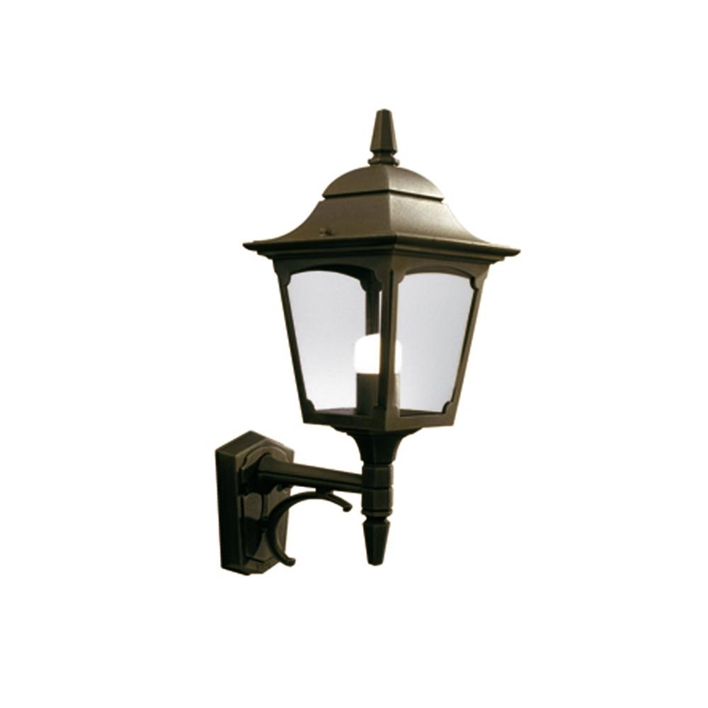 Gold Outside Wall Lights : Elstead Lighting Chapel Up CP1 BLK/GOLD Outdoor Wall Lantern - Elstead Lighting from Lightplan UK