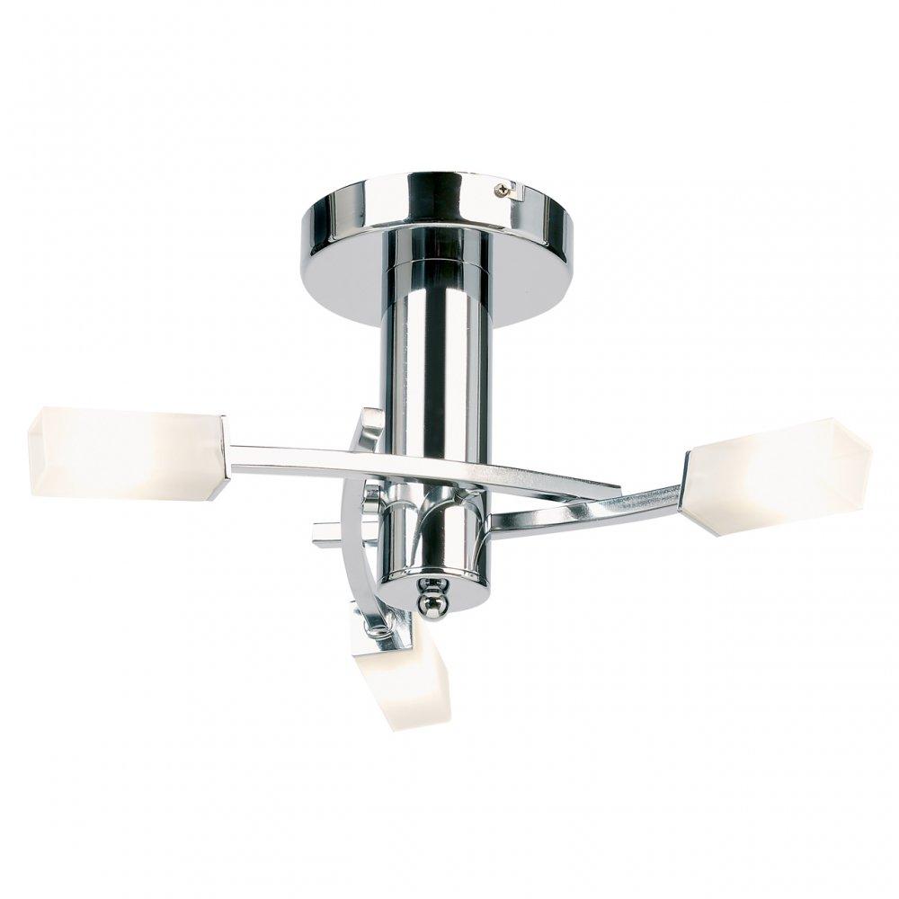 Endon Lighting 146 3CH Chrome Semi Flush Ceiling Light Endon Lighting From