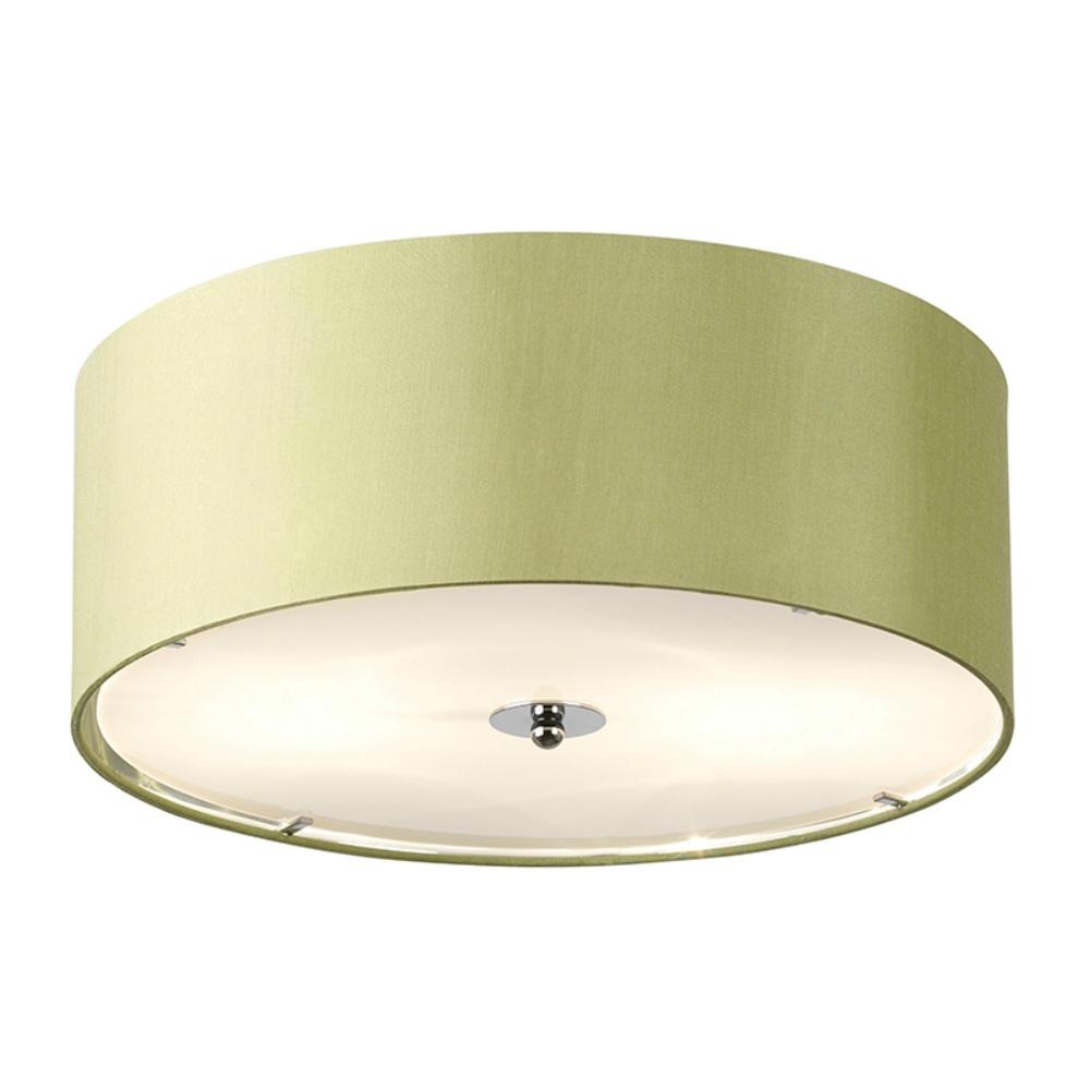 Endon Lighting Franco FRANCO 40GR Green Semi Flush Ceiling Light Endon Ligh