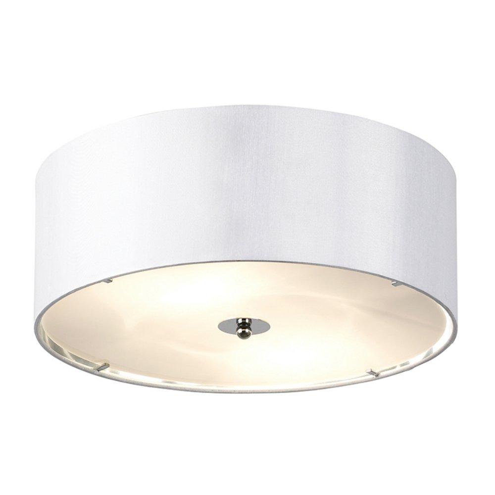 Endon Lighting Franco FRANCO 40WH White Semi Flush Ceiling Light Endon Ligh