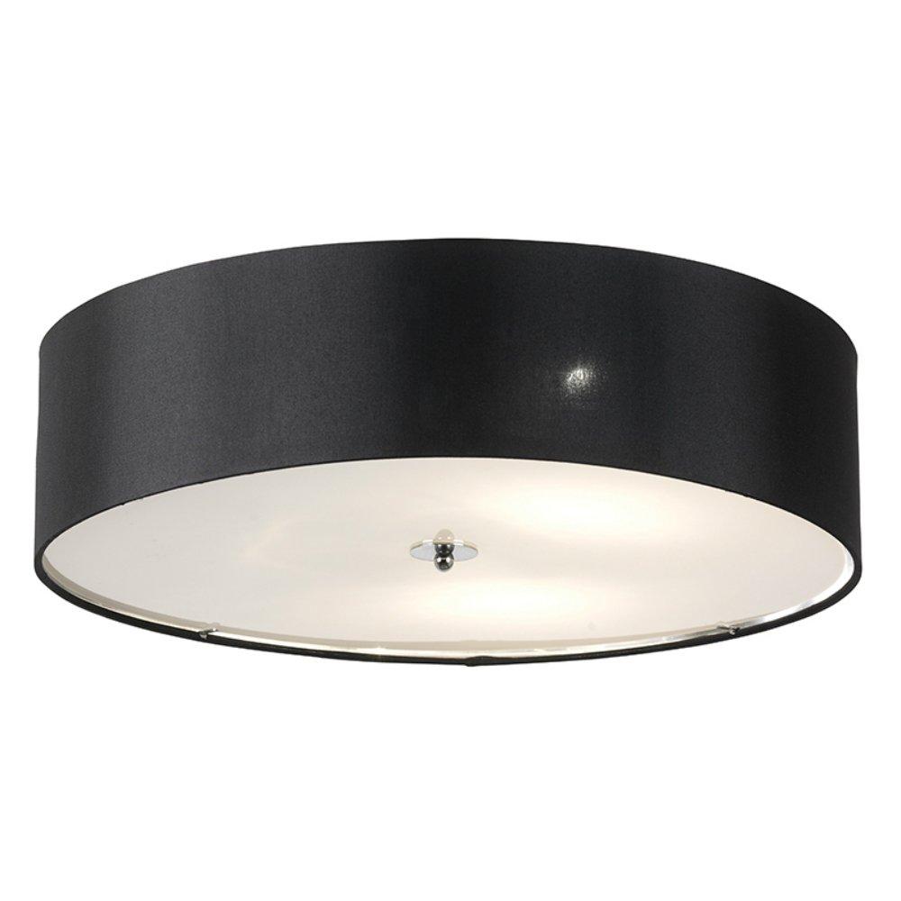 Endon Lighting Franco FRANCO 60BL Black Semi Flush Ceiling Light Endon Ligh